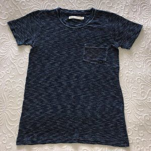 NEW Hi Line by Madewell Indigo Stripe T-shirt S